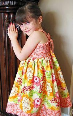 """In the Garden"" Shirred Twirly Dress"