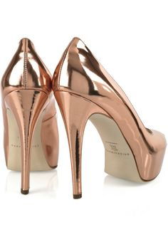 ♔ Brian Atwood rose gold heels