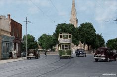 Tram passes through Rathgar in Dublin 1940