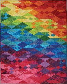 When Bali Meets Sochi Free ePattern courtesy of Hoffman Fabrics (Instant Download).  Use this for the ROW water quilt.