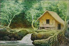 Nipa hut or bahay kubo -Philippine National House
