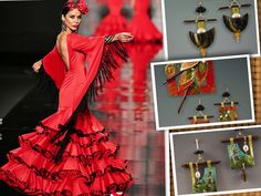 From Orient to Spain, Antonio Gutierrez dress creation and Doe Cross Jewels Inspiración Flamenca - Oriente con diseñador Antonio Gutierrez y Doe Cross, joyas de  Doe Cross.  http://flamenco.moda/wp-content/uploads/2015/02/Antonio-Gutierrez-Simof15-495.jpg  http://designerjewelryshowcase.com/ArtistPortfolioLarge.aspx?IID=89131&AID=2738