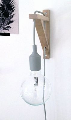 20 Easy DIY Lamp Ideas for Creative Home Decor on a Budget - Brilliant IKEA hack DIY lamp from a shelf bracket 14 Ways to Decorate Your House for Free: Diy Hanging Shelves, Ikea Shelves, Hanging Lamps, Living Room Lighting, Bedroom Lighting, Ikea Hacks, Diy Hacks, Room Lights, Wall Lights
