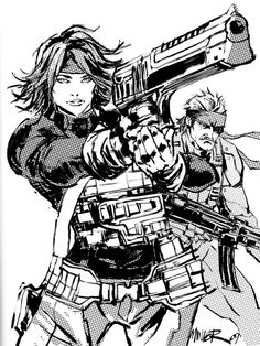Meryl & Old Snake - Metal Gear Solid - Aaron Miner