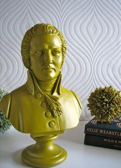 Mozart Bust Statue in Ochre by mahzerandvee on Etsy, $49.00