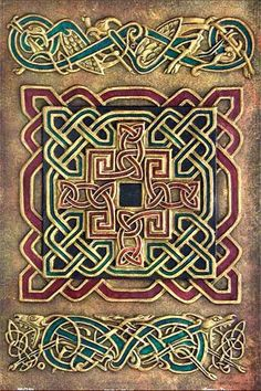 Welcome to Tursan Tuesdays, where I take you on a journey through the Celtic world. The Book of Kells, one of Ireland's national treasures and considered one of the finest of all Celtic Christian c… Celtic Symbols, Celtic Art, Celtic Knots, Celtic Dragon, Celtic Crosses, Celtic Patterns, Celtic Designs, Vikings, Celtic Culture