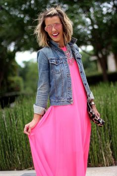 courtney kerr... bright pink and denim
