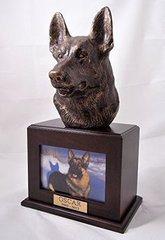 Ever My Pet Bronze German Shepherd Dog Picture Pet Urn Walnut * You can get additional details at the image link. Dog Pictures, Animal Pictures, Dog Urns, Pet Cremation Urns, Dog Shower, Dog Shedding, Dog Diapers, Dog Memorial, Dog Agility