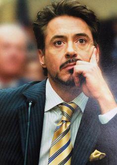 "Tony at the Congressional hearing, ""Iron Man 2"""
