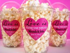 Popcorn Boxes, Wedding Favor, Engagement Party, Bridal Shower. $20.00, via Etsy.