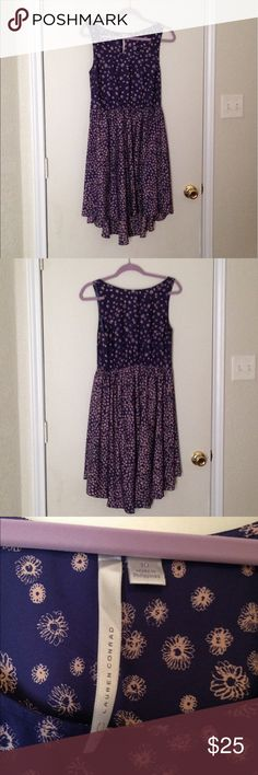 """Summer dress, Tank Top Style Very cute summer dress. The front ends right above the knee and the back a little bit below. (I am 5'7""""). The yellowish design looks like little flowers. LC Lauren Conrad Dresses High Low"""