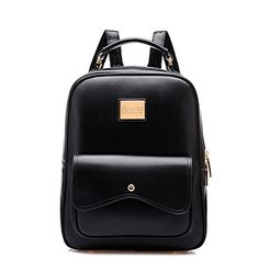 Micom Retro Preppy Style Girl's Student School Shoulders Bag Traveling Outdoor PU Backpack $31.99