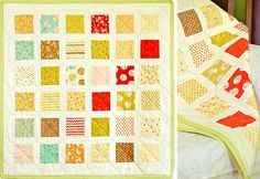 charm pack baby quilt. #quilt