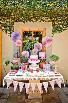 Elegant Pink & Playful First Birthday Ideas // Hostess with the Mostess®