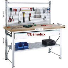 Para el almacén, el taller, el garaje... ¡incluso para casa!   http://www.esmelux.com/bancos-para-trabajo-esmelux-estanterías