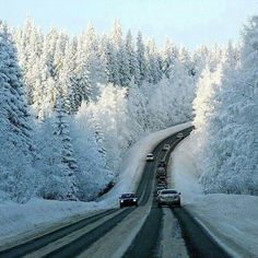 On the way to Villa La Angostura in winter - Bariloche, Patagonia, Argentina. Winter Szenen, Winter Road, Winter Time, Province Du Canada, Grands Lacs, Paths, Beautiful Places, Scenery, Places To Visit