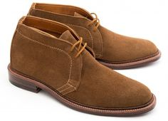 Alden Shoes Brown Suede Chukka ... An extremely versatile boot, the chukka started life as a sports shoe. It is therefore perfectly suited to a casual wardrobe in the city or the country. http://www.leatherfoot.com/unlined-dark-brown-suede-chukka/dp/4482