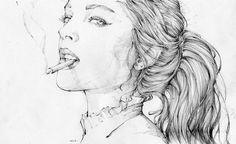 Illustrieren und Zeichnensind die TalentevonGraf n'Arq ausUruguay. Der Illustrator erschafft mithilfe von wenigen Bleistiftstrichen geniale Fashion-Portraits. Noch etwas Schraffur dazu und seine Zeichnungen wirken nicht nur wunderschön, sondern auch le