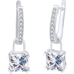 For the KIKI White Topaz Cushion Drop & Diamond Earrings Diamond Drop Earrings, Princess Kate, White Topaz, Kate Middleton, Cushions, Nail Clippers, Beauty, Style, Diamond Earrings
