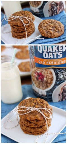 Gingersnap Oatmeal Cookies with Old Fashioned Rolled Oats ~ Don't Eat Them All