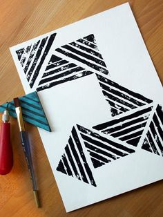 See That There: affordable art :: diy geometric stamp