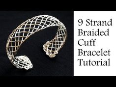 "Jewelry Tutorial : 9 Strand ""Viking"" Weave Braided Bracelet - Intermediate Wire Wrapping - YouTube"