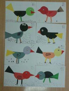 juf Rita pcbs t Mozaïek :: jufritapcbsmozaiek Bird Nest Craft, Bird Crafts, Winter Kids, Winter Art, Art For Kids, Crafts For Kids, Arts And Crafts, Kindergarten Art, Preschool Crafts