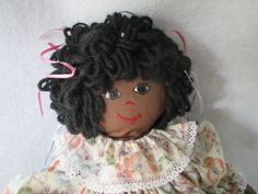 Rag Doll African American MultiCultural Doll Girl by HobbitHouse