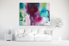 Original XXXL extra large abstract painting by ARTbyKirsten