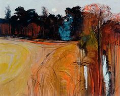 Cedar Wood by John Scorror O'Connor. Oil on canvas, 76 x 92 cm. Collection: The Hepworth Wakefield.