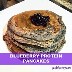 DELICIOUS Blueberry Protein Pancakes Recipe   Fitness, Workouts, Healthy Recipes with Samantha Kozuch  #proteinpancakes #Recipes #fitness