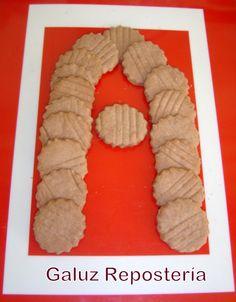 La primera letra del abecedario Galuz, sin duda es de chocolate!