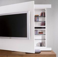 Parete Soggiorno Porta Tv Alto Design | Acquista Mobile Porta Tv Nero E  Legno Massello | Pinterest | TVs, Interiors And Living Rooms