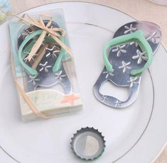 e57d95ff9d338b The Starfish Flip-flop Bottle Opener is a great party favor for a beach  wedding