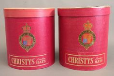 Adams Antique Top Hats | Christy's top hat boxes