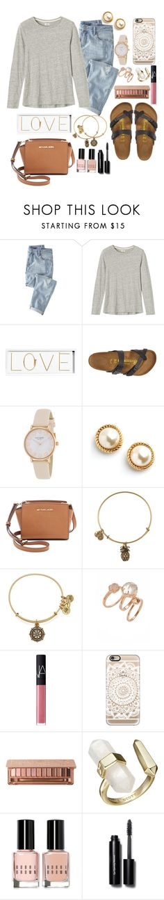 """""""YAAYYY1K FOLLOWERS!!"""" by mhallmark ❤ liked on Polyvore featuring Wrap, Toast, Oliver Gal Artist Co., Birkenstock, Kate Spade, MICHAEL Michael Kors, Alex and Ani, Kendra Scott, NARS Cosmetics and Casetify"""