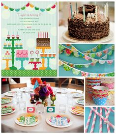 Colorful Birthday Party Inspiration Board