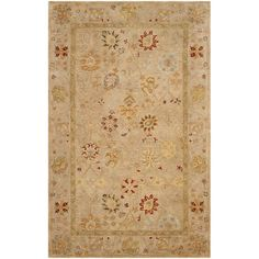 Three Posts Ashville Hand-Tufted Taupe / Beige Area Rug Rug Size: