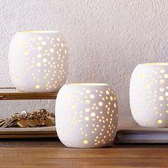 Pierced Porcelain Tealights - Constellation #westelm