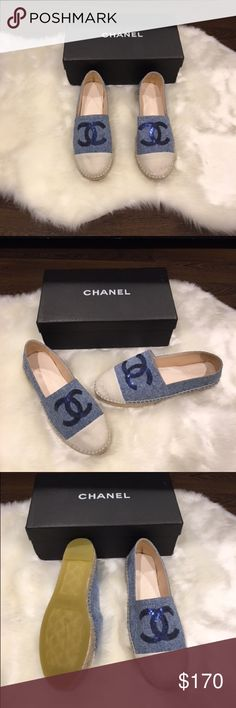 Blue loafers New blue cream loafers. They come with box and dust bag. Gorgeous. Please ask any question before buying CHANEL Shoes Flats & Loafers