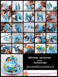 tutorial my little pony rainbow dash polvere di zucchero