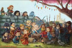 King Me - Kings Landing art by Patrick Ballesteros