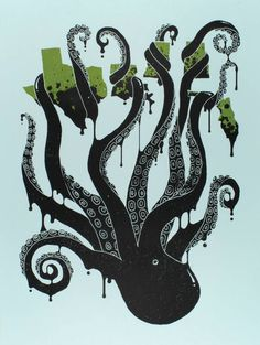 Art for Advocacy: 13 Posters for Sustainable Social Change oil octopus gul of mexico oil spill poster