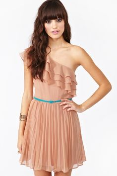 Sweet Talk Dress. I normally don't like dress/tops that have one sleeve. But this is pretty.