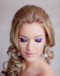Image result for purple bridal makeup