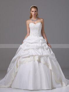b78392f83cc51 Lace Trimmed Strapless Taffeta Wedding Gown with Appliqued Bodice Elegant Wedding  Dress, Gown Wedding,