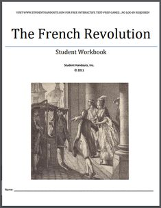 French Revolution Workbook - Free to print (PDF file) for high school World History students. High School World History, World History Classroom, World History Teaching, Ap World History, Study History, History Images, French Revolution History, French History, Black History