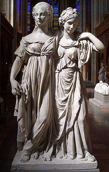 Johann Gottfried Schadow: Las princesas Louise y Friederike von Mecklenburg-Strelitz, 1797. Antigua Galería Nacional de Berlín. Adriana Pinto