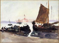 John Singer Sargent: Venice, Sailing Boat