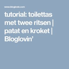 tutorial: toilettas met twee ritsen   patat en kroket   Bloglovin'